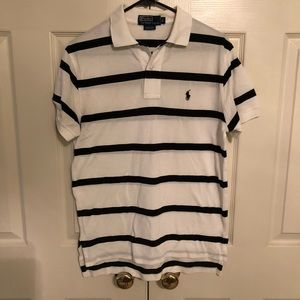 Polo by Ralph Lauren White and Black Polo 👕
